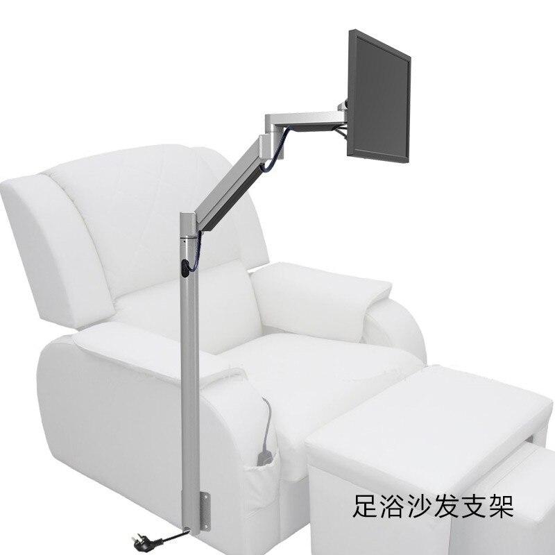 Индивидуальные пол крепление монитор держатель напольная подставка диван тумбочка фиксированной ТВ крепление для кресло для массажа ног р