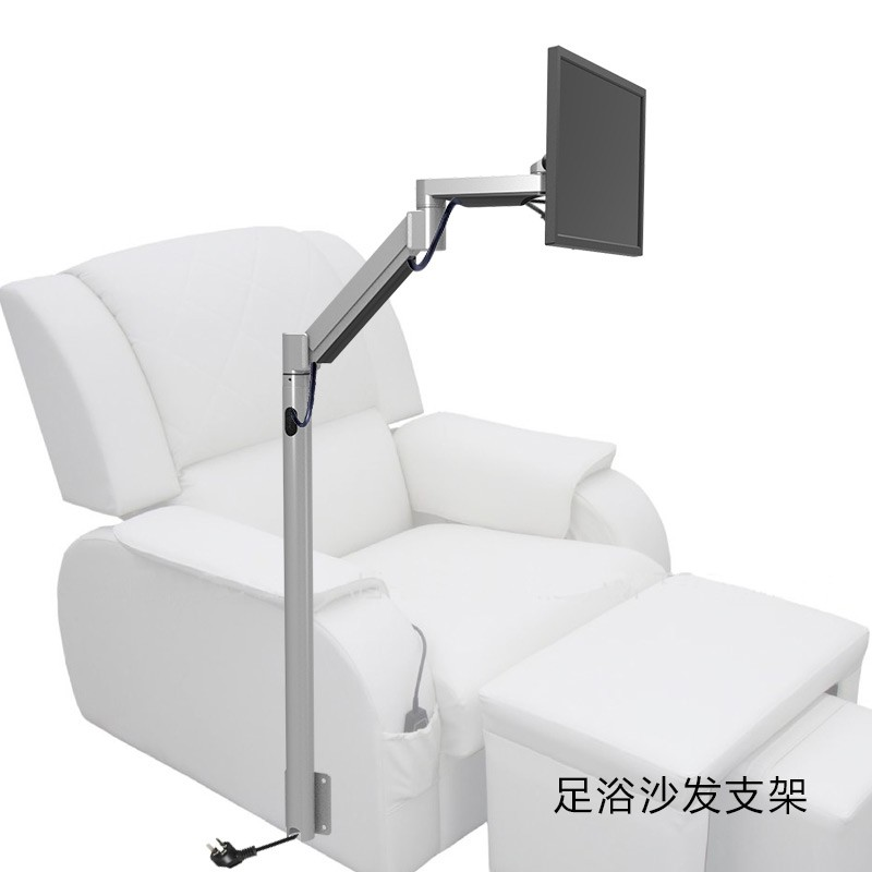 Customized Floor Mount Monitor Holder Floor Stand Sofa Bedside Fixed TV Mount For Foot Massage Chair Entertainment Room LD218