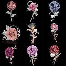 RINHOO Женская ткань искусство жемчуг ткань цветок брошь булавка кардиган рубашка Шаль булавка Профессиональный значок на пиджак ювелирные изделия аксессуары
