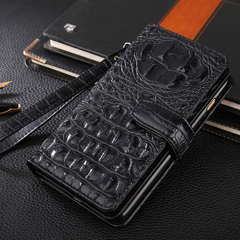 3D Bump Alligator Crocodile Skin Pu Leather Phone Case For Oppo Realme1 A73S R17 F9
