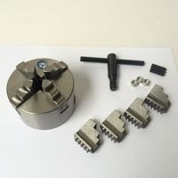 """צ 'אק מחרטת K12 130 ארבע לסתות תרמילי מרכוז עצמי 130 מ""""מ עבור מחרטת כלים מכונות צ' אק-בפוטר מתוך כלים באתר"""