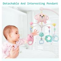 Baby Rattle Infant Toys For 0 12 Months Tree Branch Shaped Holder Animal Bed Bell Hanging Rotating Safe Infant Toys