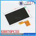 New 7'' inch tablet pc 60pin LCD screen KX0706003-A0 700CP5650-60 KR070PC5S Tablet LCD Display Resolution 800*480 Free shipping