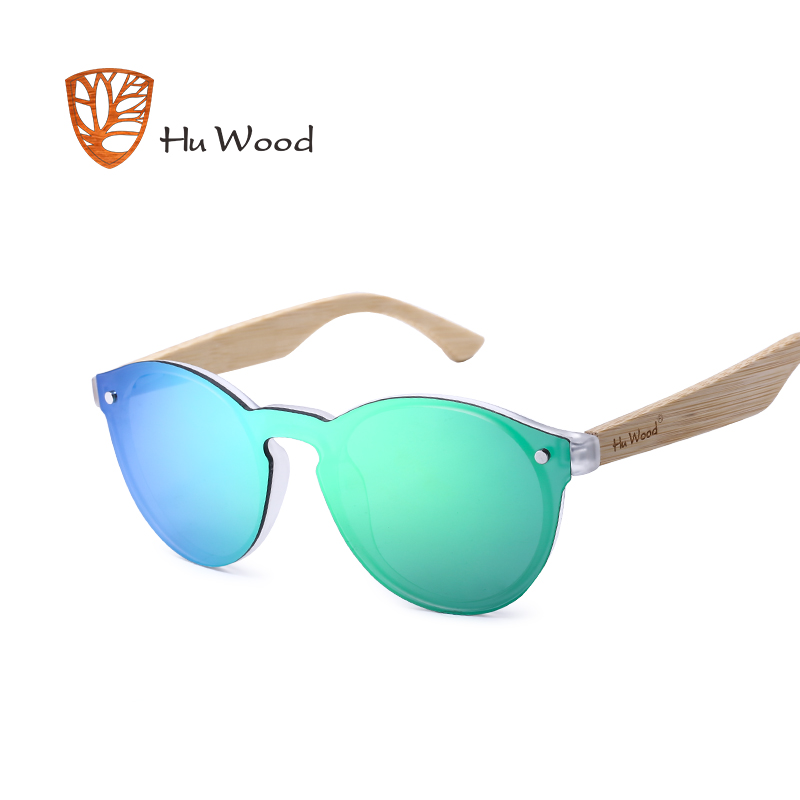 HU WOOD Men Mirror Linser Trä Solglasögon Multi Color Woman Solglasögon För Unisex Drivning Rimless Sun Glasses GR8013
