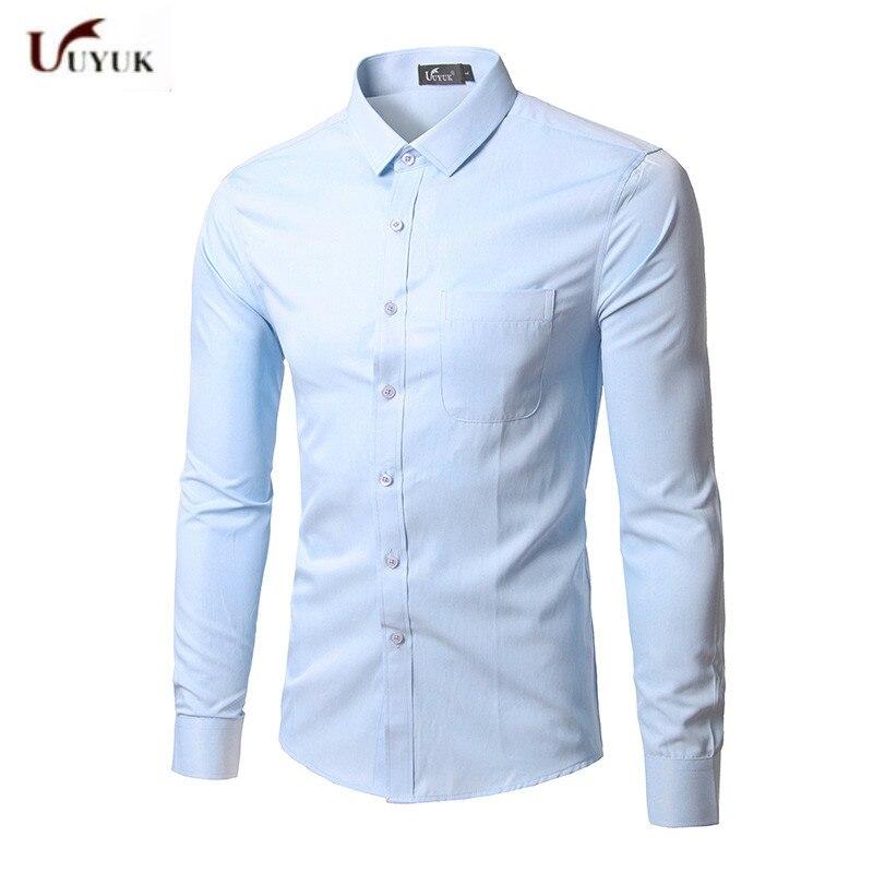Hemden 2017 Männer Tragen Neue Muster Koreanische Einfarbig Männer Shirt Kleid Business Angelegenheiten Freizeit Zeit Mann Camisa Masculina Freies Verschiffen