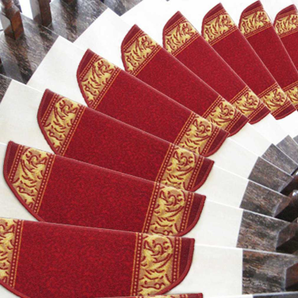 1PC Anti-Slip Self-adhesive Floor Staircase Carpet Home Office Hotel Decoration Stair Tread Mats Rugs 24*65cm Drop Shipping