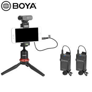 Image 5 - Boya BY WM4 PRO K1 K2 kablosuz stüdyo kondenser mikrofon sistemi yaka yaka röportaj Mic iPhone Canon Nikon kameralar