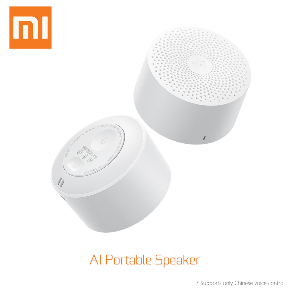xiaomi Original Mini AI Bluetooth Speaker Portable Sports Music Audio Speaker Life Waterproof Fashion Small Speakers AI Speaker in Smart Remote Control from Consumer Electronics