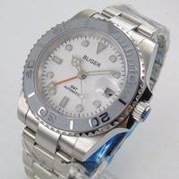40mm Mechanical Automatic Men's Watch GMT Function Luminous Time Watch Ceremic Bezel