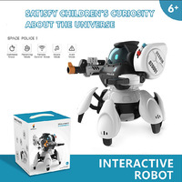 RC Robot Music Shiny Gesture Remote Control Electric Toy Educational Toys Walking Dancing Smart Space Robots Kids Robot Doll Toy