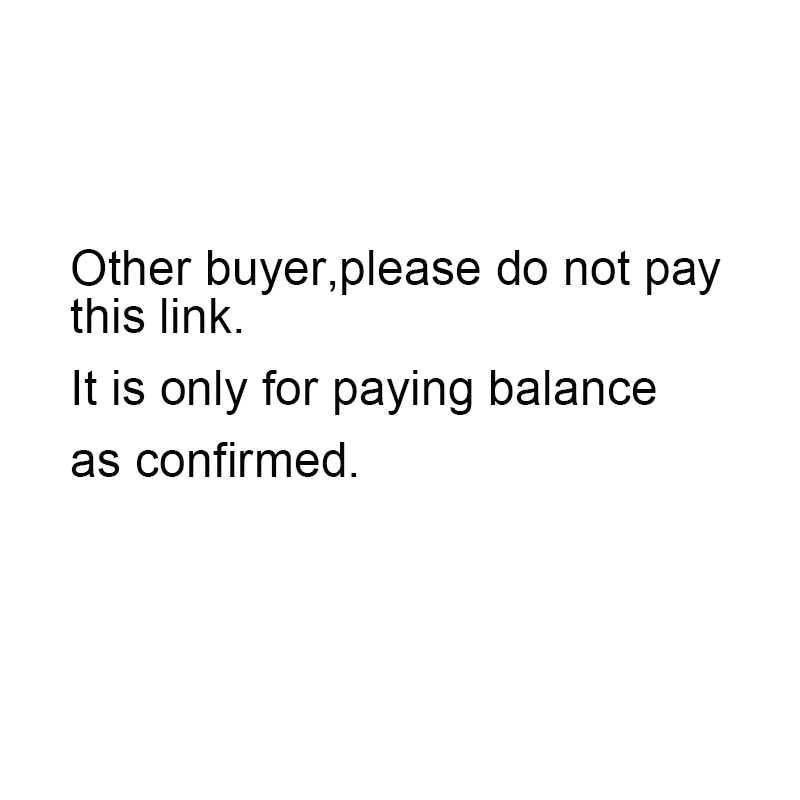 Pago del saldo confirmado, otro comprador por favor no pague