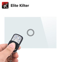 Elite Kilter Remote Control Touch Switch US Standard Panel Smart Touch Wall Light Switch 1 Gang