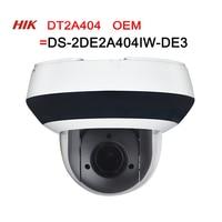 PTZ IP Camera DT2A404=DS 2DE2A404IW DE3 H.265 IK10 ROI WDR DNR Dome CCTV Camera 4MP Hikvision OEM 4X zoom Network POE