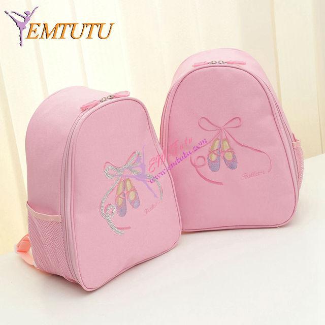 Children Kids Pink Ballet Bag Backpack For S Shoes Paillettes Waterproof Canvas Dance Bags