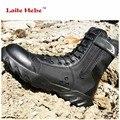 Laite Hebe Botas Tácticas Delta botas de Desierto Botas Militares Botas de Combate SWAT Americano Zapatos Al Aire Libre Portátil de Arranque Senderismo CN Size38-46