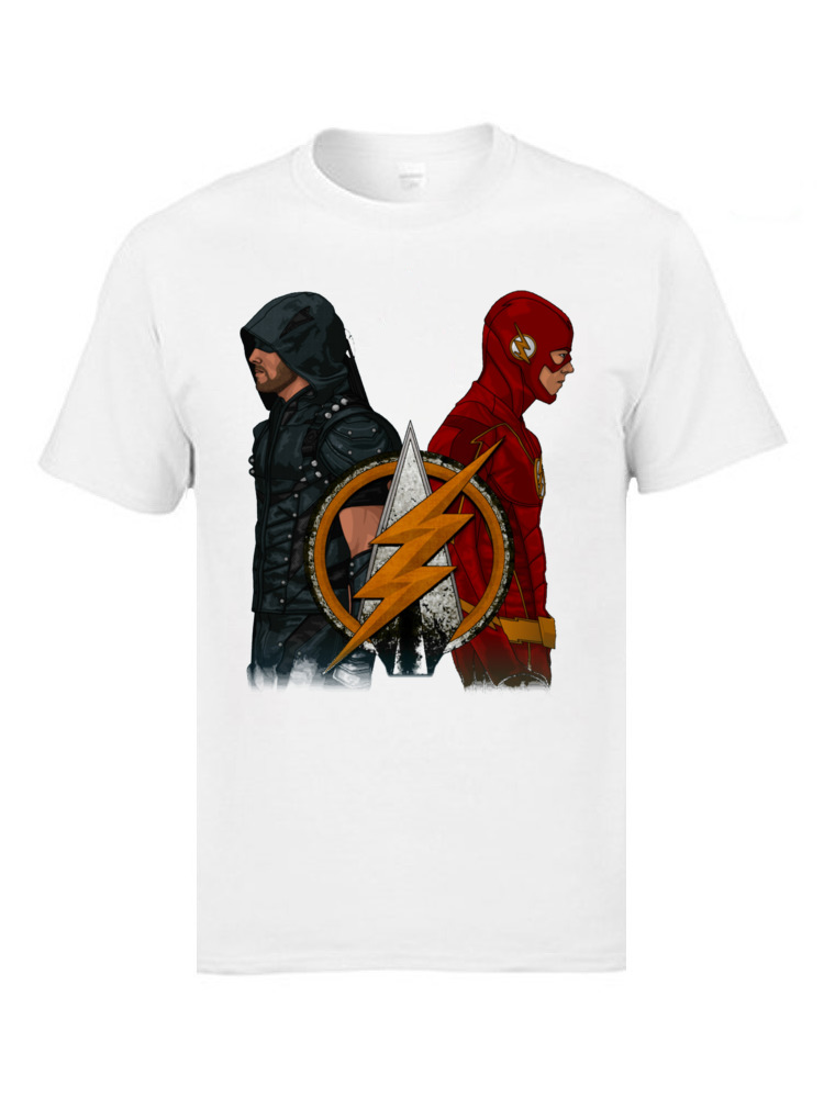 Green Arrow n The Flash Marval Comic T Shirts Character Cool Super Man Fashion Awesome Great Tshirts Mens Christmas Tshirts image