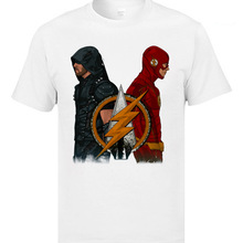Green Arrow n The Flash Marval Comic T Shirts Character Cool