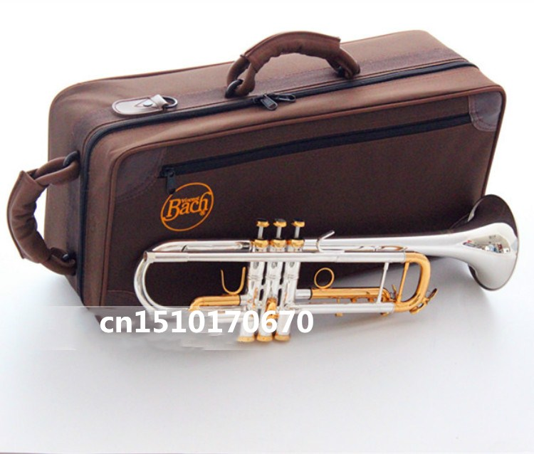2018 quality LT180S-72  Bach Trumpet New American trumpet silver plated Trumpet B flat Top Play Musical instruments professional trumpet bb bach trumpet for sale lt180s to 37 instrument b surface silver plating exquisite design durable wholesale 2016 new