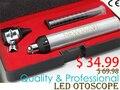 Super Alta Calidad Con Precio Barato de la Venta Caliente Del Envío Libre-Prima Óptica Otoscopio LED kit conjunto de Metal Portátil Del Cuidado Del Oído médico