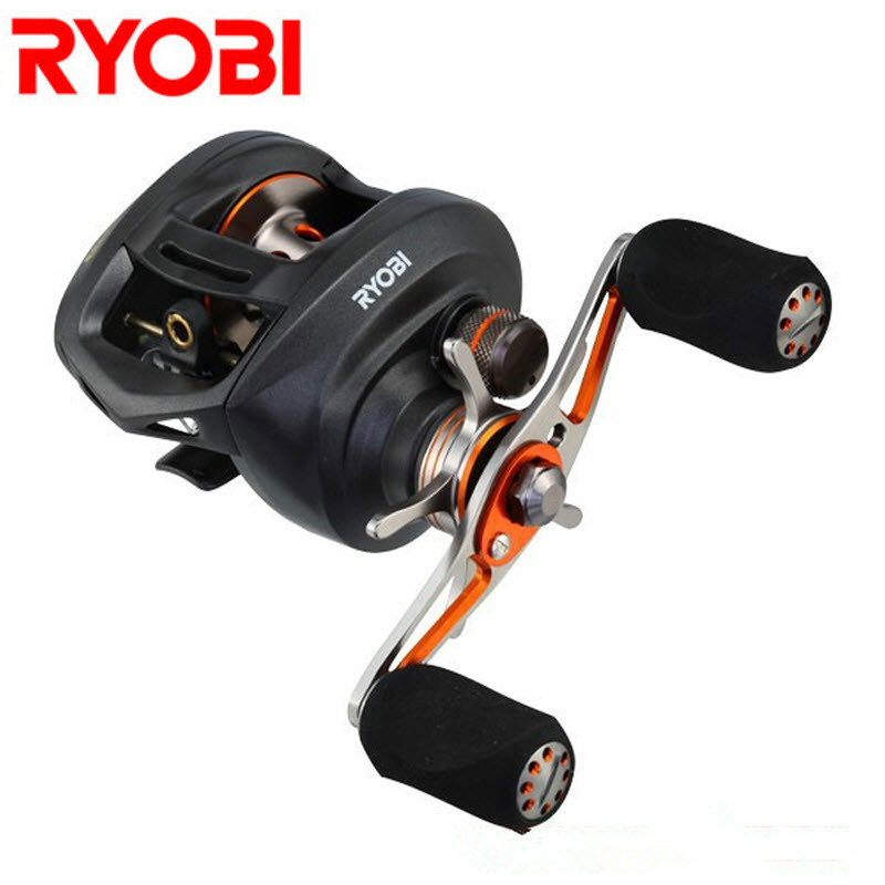 RYOBI PLUMA Right Left Handle Round Baitcasting Reels Reel 11BB Gear Ratio 7.1:1 Carretes Fishing Gear Moulinet Peche Super Deal fashion professional makeup bag women cosmetic case high end female beauty makeup box large brush jewelry travel make up box
