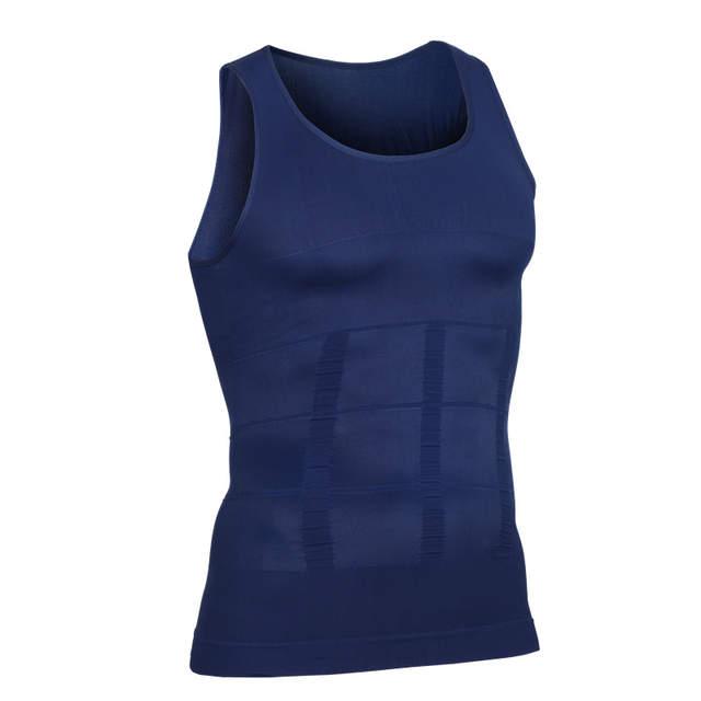 38c19a00d7 Men Posture Corrective Corset Tight Chest Binder Shaper Slimming Vest Waist  Belly Control Stomach Underwear Sleeveless