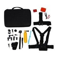 18 in 1 Accessory Kit for GoPro Session Hero 4 3+ 3 2 1 Xiaomi Yi SJ4000 SJ5000 SJ6000 SJ7000 in Swimming Rowing Skiing