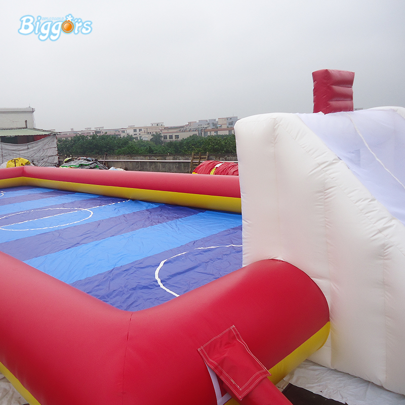 Inflatable Soapy Stadium Football Soccer Field With Base
