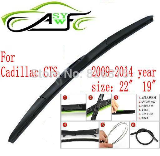 """Автомобиль стеклоочистителя для Cadillac CTS Размеры 1"""" 22"""" 2009- Мягкие резиновые Стеклоочиститель 2 шт./пара"""