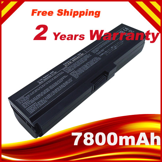 7800mAh 9 CELLS Laptop Battery For Toshiba Satellite PA3634U C650 C655 C655D C660 C670 PA3817U-1BAS PA3817U-1BRS