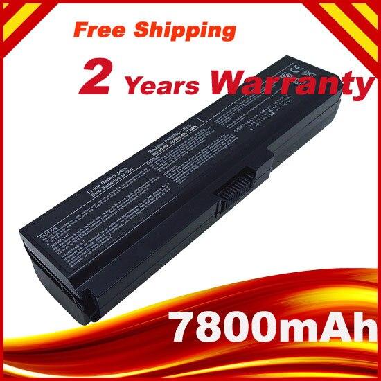 7800mAh 9 CELLS Laptop Battery For Toshiba Satellite PA3634U C650 C655 C655D C660 C670 PA3817U-1BAS PA3817U-1BRS