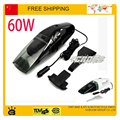 60W auto Vacuum Cleaner Super Suction Mini 12V High-Power Wet and Dry Portable Handheld auto Car Vacuum Cleaner black Color