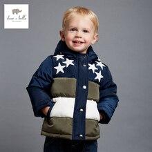 DB4128 дэйв белла зима мальчиков вмс звезды печати парки с капюшоном пальто