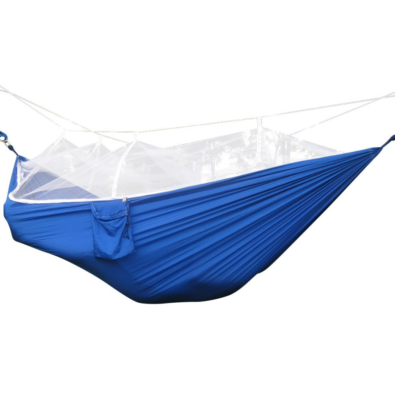 290 x 140cm Outdoor Hammock Swing with Integrated Mosquito Curtain Bugs Net UK