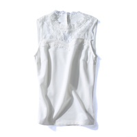 Women S Sexy White Lace Tank Tops Vest O Neck Camisole Casual Party Female Solid Polyester