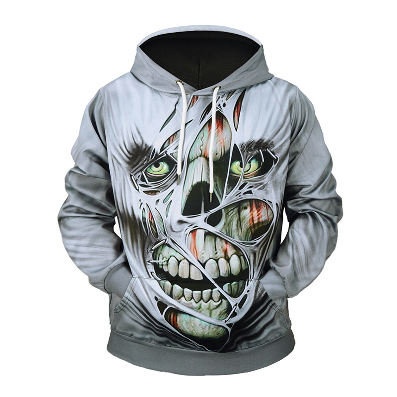 Hoodies & Sweatshirts 3d Halloween Pumpkin Ghost Terror Hoodie Men/women Goth Streertwear Casual Autumn Winter Coat Sweatshirts All Hallows Day Attractive Designs;
