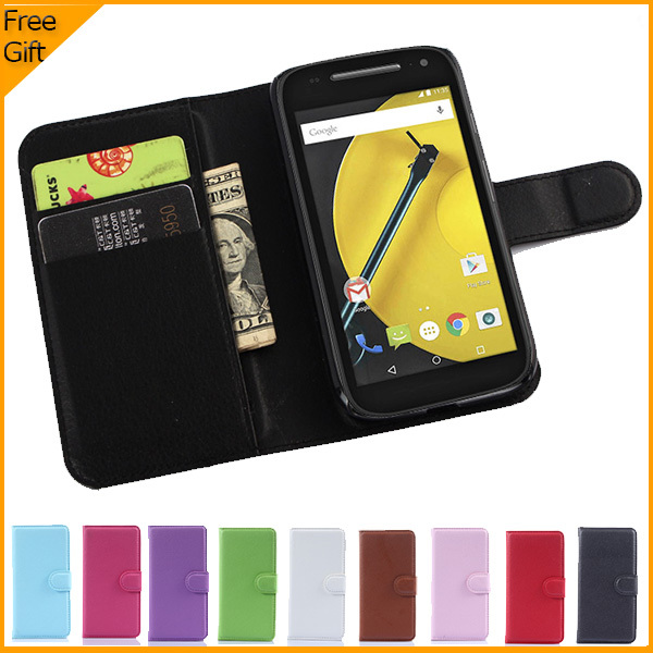 Luxury Wallet Leather Flip <font><b>Case</b></font> Cover For <font><b>Motorola</b></font> <font><b>Moto</b></font> E+1 <font><b>E2</b></font> 2nd Gen XT1527 Cell Phone <font><b>Case</b></font> Back Cover With Card Holder Stand image