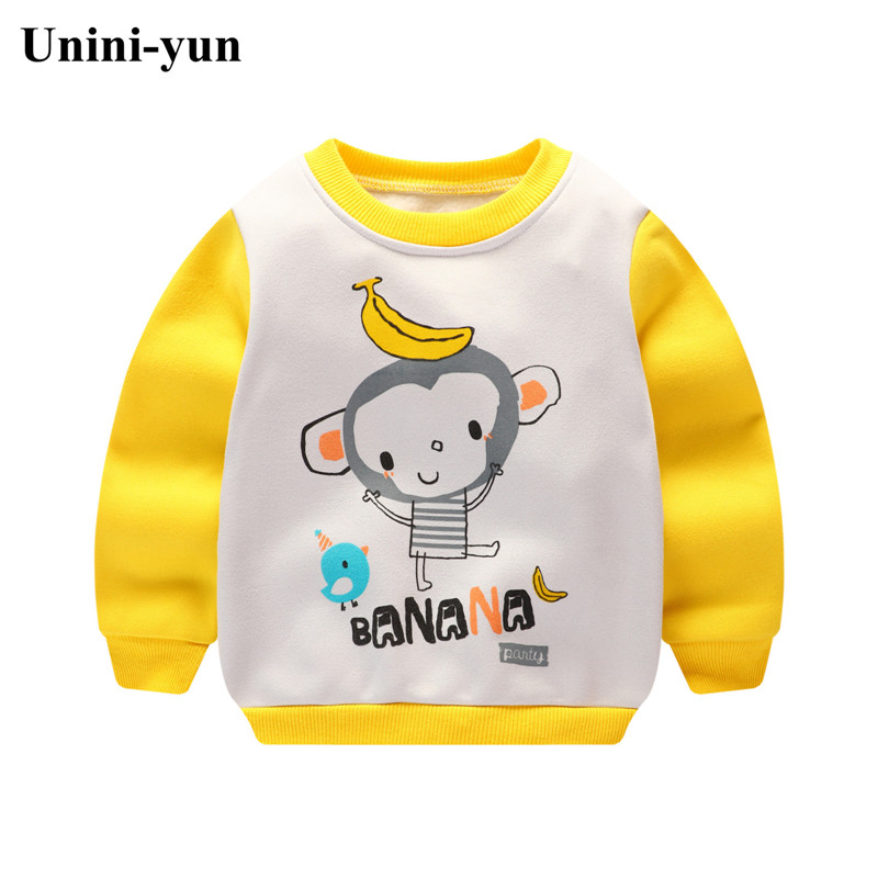 Baby Boys Sweatshirts Long Sleeve Monkey Children T shirts Cotton Girls Pullover Hoodies Tops 2017 Kids Infant Tees Clothes