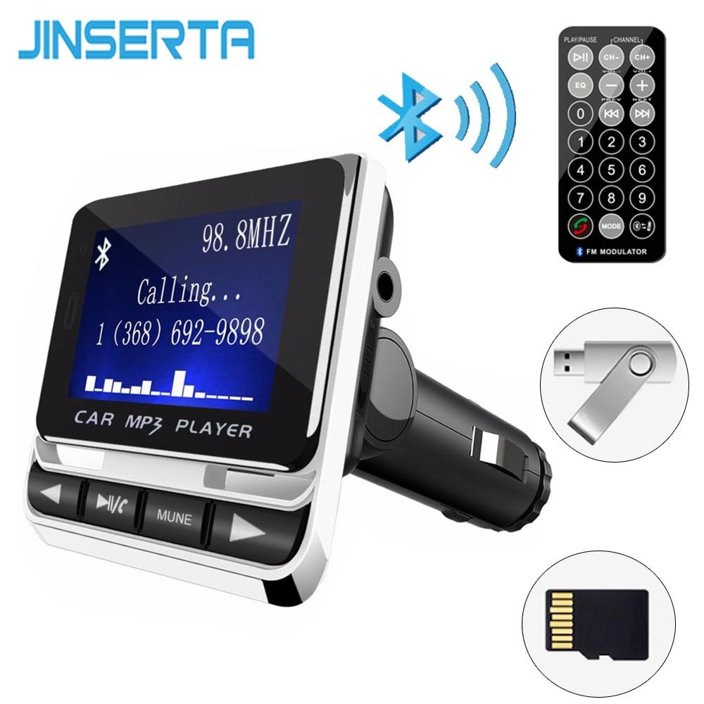 jinserta bluetooth car mp3 player wireless fm transmitter. Black Bedroom Furniture Sets. Home Design Ideas