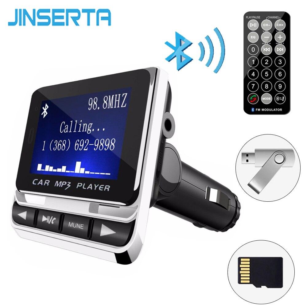 JINSERTA Bluetooth De Voiture Lecteur MP3 Sans Fil Transmetteur FM LCD Écran Voiture Kit USB Chargeur Soutien Pendrive USB TF Ligne-dans AUX
