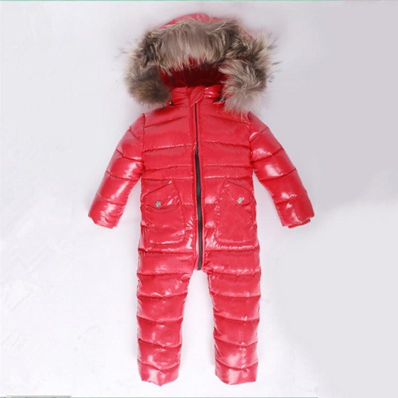 2de0a2d98 Online Shop 3~6T Russian Winter Baby Down Romper Girls Snowsuit ...