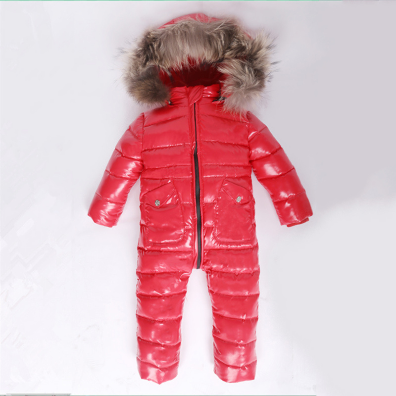 -30 Winter Snowsuit Baby 80% duck Down Romper Outdoor Infant Overcoat Clothes Girls Overall for Boys Kids Jumpsuit 2~6Y-30 Winter Snowsuit Baby 80% duck Down Romper Outdoor Infant Overcoat Clothes Girls Overall for Boys Kids Jumpsuit 2~6Y