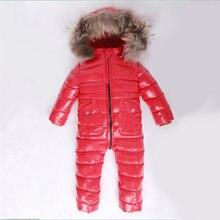 b94d80495 -30 invierno Snowsuit bebé 80% pato mameluco infantil al aire libre abrigo  ropa en general para los bebés niños mono 2 ~ 6Y