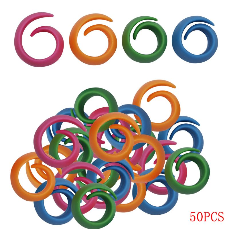 50pcs Silicone Sewing Machine Supplies Thread Spools Savers Huggers Unwinding Peels Tools Useful Durable