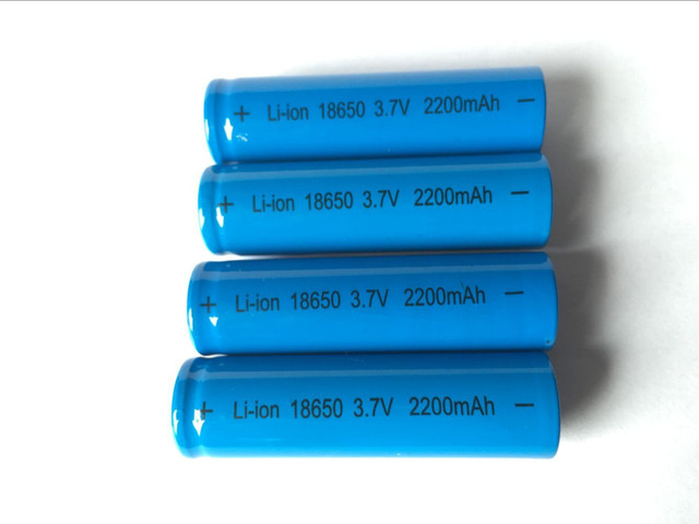 6Pcs 18650 (Not AA) 3.7V 2200mAh Battery lithium Li Ion Rechargeable Large Capacity Batteries battaries T6 Flashlight red LED
