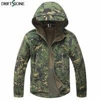 New Winter Men's Camouflage Jackets Shark Skin Soft Shell Tactical Military Jacket Men Fleece Waterproof Army Coat Windbreakers