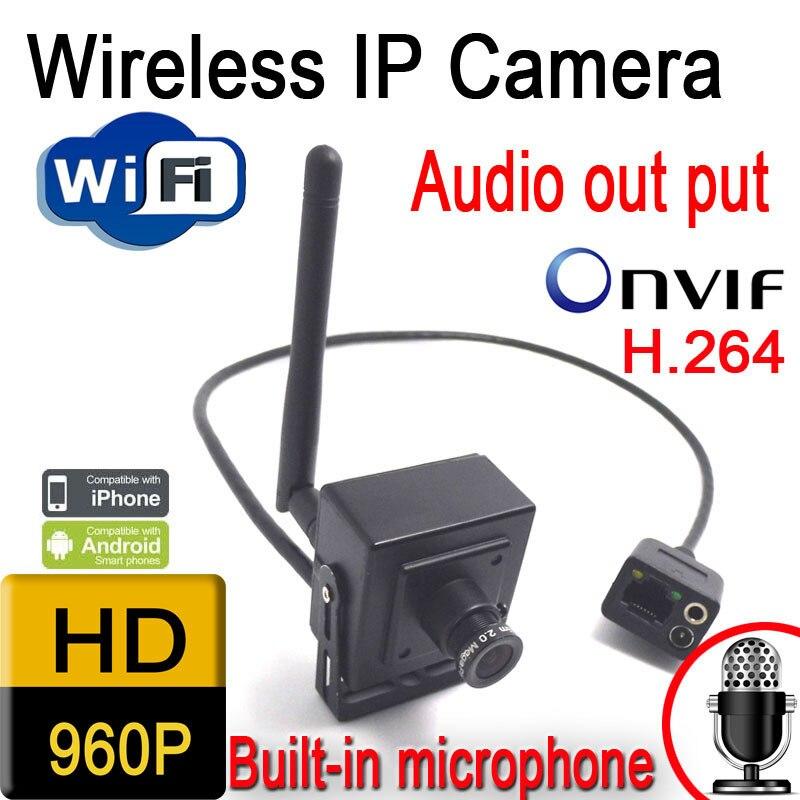 Ventes chaudes dans IP caméra hd 960 p 1.3 pixel onvif caméras, sans fil mini accueil CCTV caméra de sécurité système haut-parleur audio porte CAM