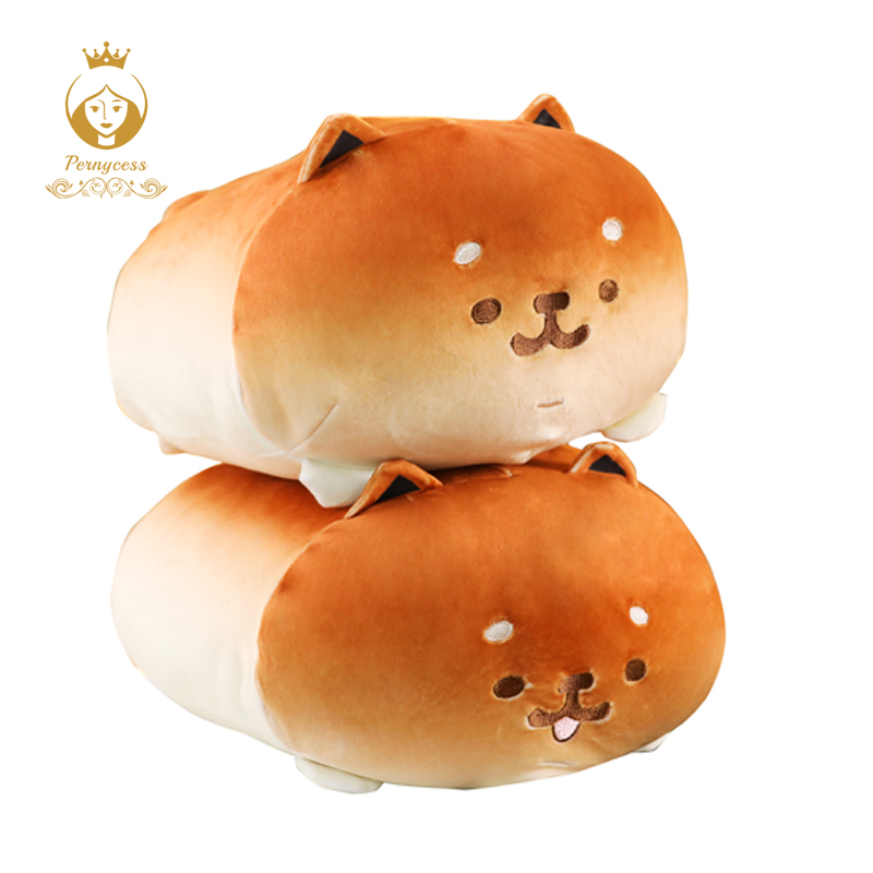 1PCS 35CM Lovely Bread Dog Plush Toy Soft Shiba Inu Plus Stuffed Pillow Child Toy Squeeze Toy Sofa Bedroom Decoration