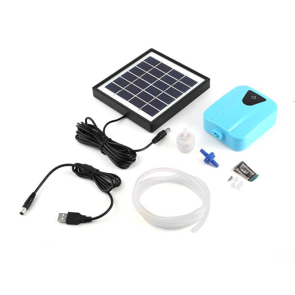 2017 Solar Powered DC Charging Oxygenator Fishing Air Pump Water Oxygen Pump Pond Aerator With 1