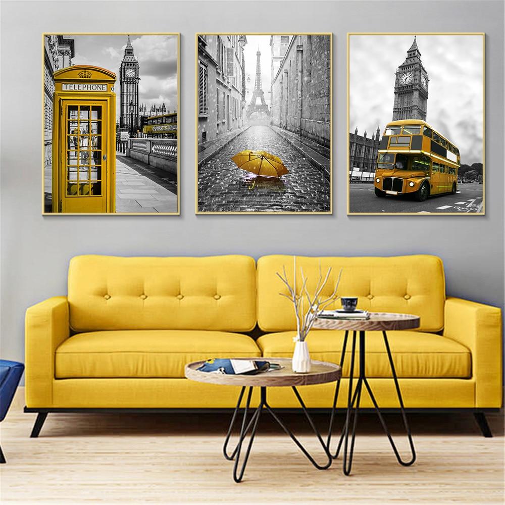 принты постер в желтых тонах для лофт премьеры