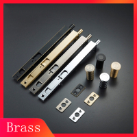 one pair 8/10/12/24 Inch /solid brass Door Bolts Double Opening Door Long Cabinet Latch Door Lock Pin Hardware Accessorie